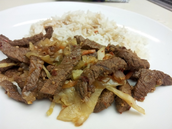 Spicy Garlic and Pepper Beef