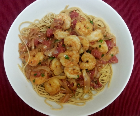 Shrimp Fra Diavolo with Pasta